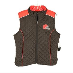 Cleveland Browns full zip puffer bubble vest